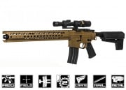 Krytac Licensed War Sport LVOA-C Exclusive Airsoft GI AEG Airsoft Gun (FDE) with 10 Free Hicap Mags