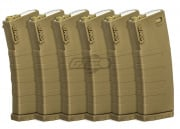 KWA M4 / M16 120 rd. AEG Mid Capacity Magazine - 6 Pack ( Flat Dark Earth )