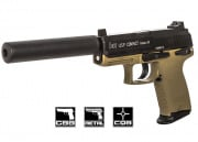 H&K Full Metal USP Desert Compact Tactical NS2 GBB Airsoft Gun By KWA