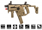 KWA KRISS Vector Gas Blow Back Tan SMG/Aim Sports 150 Lumens LED Flashlight w/ Pressure Switch Airsoft Gun Package