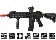 Lancer Tactical Full Metal Gearbox M4 RIS EVO AEG Airsoft Gun ( Black / Polymer Body )