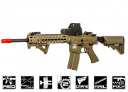 "Lancer Tactical 10"" M4 Carbine KeyMod AEG Airsoft Gun (Polymer Body/Tan)"