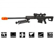 Lancer Tactical M82 Polymer Spring Sniper Rifle w/ Bipod Airsoft Gun