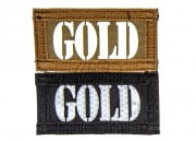 "Lancer Tactical ""GOLD"" Reversible Velcro Patch (Brown Side-Glow In Dark/Black Side-IR)"