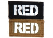 "Lancer Tactical ""RED"" Reversible Velcro Patch (Brown Side-Glow In Dark/Black Side-IR)"