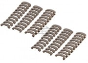 Lancer Tactical Rail Index Clips 60 Pieces Set ( Tan )