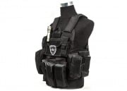 Lancer Tactical Strike Plate Carrier Vest (Black)