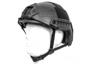 Lancer Tactical Ballistic Type Basic Version Helmet Helmet w/ Retractable Visor (Black)
