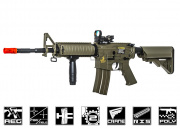 Lancer Tactical M4 CQBR MK18 AEG Airsoft Gun (Tan)