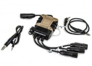 Lancer Tactical Lite Edition PRO Kenwood & Mobile Phone Version PTT (Tan/Black)