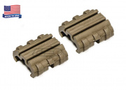 Manta MRCC Cross Clip Rail Cover (Flat Dark Earth/2 Pack)