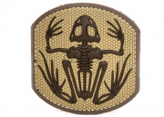 Mil-Spec Monkey Frog Skeleton PVC Patch (Desert)