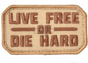 Mil-Spec Monkey Live Free or Die Hard Patch (Desert)