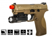 Smith & Wesson M&P 9 Full Size Semi/Full Auto GBB Airsoft Gun (Dark Earth/Licensed by Cybergun)
