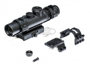 NC Star XRS Series 2-7X32 Compact Convertible Base Mount Tactical Scope (Mil-Dot/Blue Reticle)