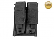 Pantac USA 1000D Cordura Molle 9mm Double Magazine Pouch (Black)