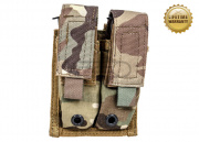 Pantac USA 1000D Cordura Molle 9mm Double Magazine Pouch (Multicam)
