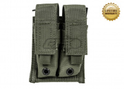 Pantac USA 1000D Cordura Molle 9mm Double Magazine Pouch (Ranger Green)