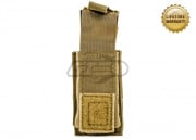 Pantac USA 1000D Cordura Molle 9mm Single Mag Pouch W/ Hard Insert (Coyote)