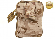 Pantac USA 1000D Cordura Molle Zippered Drop Pouch (Medium/Desert Digital)