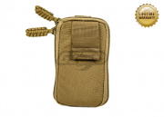 Pantac USA 1000D Cordura Molle Zippered Drop Pouch ( Small / Coyote )