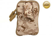 Pantac USA 1000D Cordura Molle Zippered Drop Pouch (Small/Desert Digital)