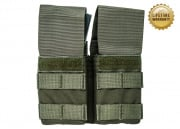 Pantac USA 1000D Cordura Molle Double M4/M16 Magazine Pouch w/ Hard Inserts (Ranger Green)