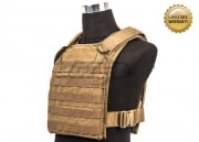 Pantac USA 1000D Cordura Molle Tactical Plate Carrier ( Coyote Brown / Medium )