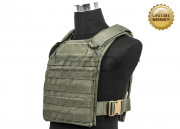 Pantac USA 1000D Cordura Molle Tactical Plate Carrier (Ranger Green/Large)