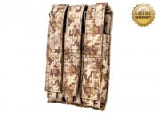 Pantac USA 1000D Cordura Molle MK5/H&K MP5 Triple Magazine Pouch (Desert Digital)