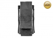 Pantac USA 1000D Cordura Molle Single 40mm Grenade Pouch (Black)
