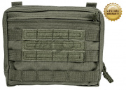 Pantac USA 1000D Cordura Molle Spec Ops Flat Square Utility Pouch (Ranger Green)