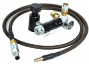"Redline Airsoft ""Firebase"" Air System for PolarStar PR-15 w/ Brown Braided Hose"
