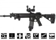 Spartan Full Metal SRX 300 Blackout Series SRX 306 Carbine AEG Airsoft Gun By VFC