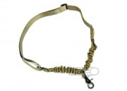 Spartan Tactical Velcro Single Point Bungee Sling (Tan)