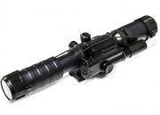 Spartan 3-9X32 Variable Scope with Integrated Laser and Rail Mount