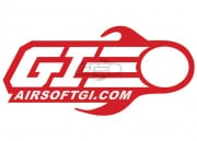 Airsoft GI Small Vinyl Decal (Red)