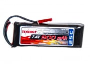 Tenergy Lithium-Ion Polymer 7.4V 900mAh 25C w/JST Rechargeable Battery Pack