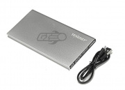 Tenergy 8000mah Super Slim Dual Port Power Bank (Metallic Silver)