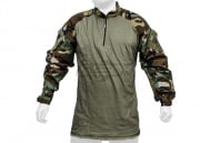 Tru Spec TRU Tactical Response 1/4 Zip Combat Shirt (Woodland - OD/M/Regular) 50/50 Nylon Cotton