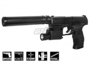 Elite Force Walther PPQ Spring Powered Pistol Airsoft Gun Combat Kit (Black)