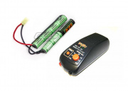 Valken Energy 9.6v 1600mAh NiMH Crane Stock Battery w/ BOL Basic Fast Smart Charger Package