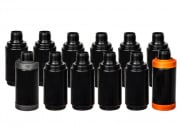 Valken Tactical Cylinder C Thunder V Grenade Shells - 12 Pack (Black)