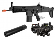 VFC Full Metal FN Herstal SCAR-H MK17 CQC AEG Airsoft Gun (Black) Kit Up Package