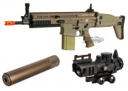 VFC FN Herstal SCAR-H MK17 CQC AEG Airsoft Gun (Tan) Kit Up Package
