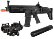 VFC FN Herstal SCAR-L MK16 CQC AEG Airsoft Gun (BLK) Kit Up Package