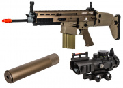 VFC FN Herstal SCAR-H MK17 STD AEG Airsoft Gun (Tan) Kit Up Package