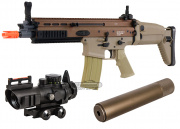 VFC Full Metal MK16-L CQC AEG Airsoft Gun (Tan) Kit Up Package
