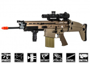 FN Herstal SCAR-H MK17 STD Carbine AEG Airsoft Gun by VFC (Tan)