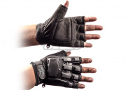 V-Tac Armored Half Finger Gloves (Black/Small - Extra Small)
